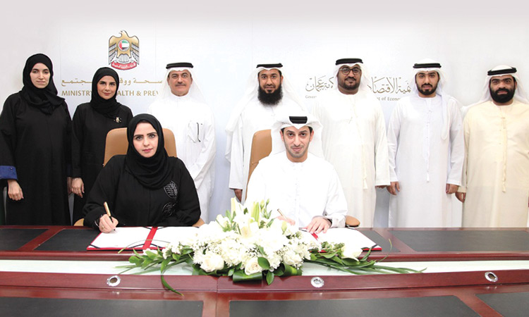 Ajman Ded Mohap Sign Deal To Enhance Corporate Partnership Gulftoday