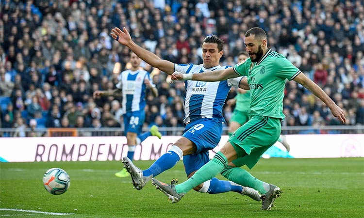 Benzema delivers again as Real beat Espanyol; Atletico held ...