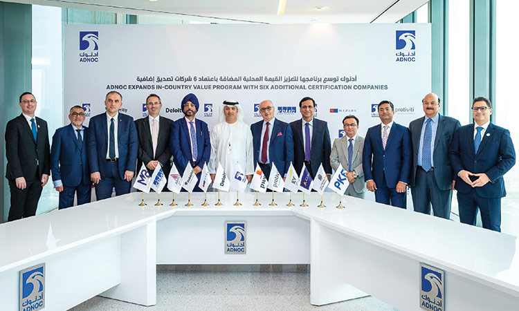 Adnoc appoints more certifying bodies to expand ICV