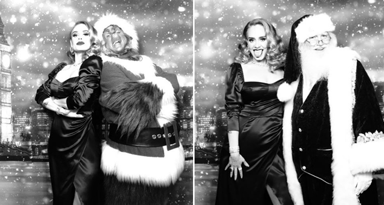 Adele looks glamorous in festive photos after weight loss ...