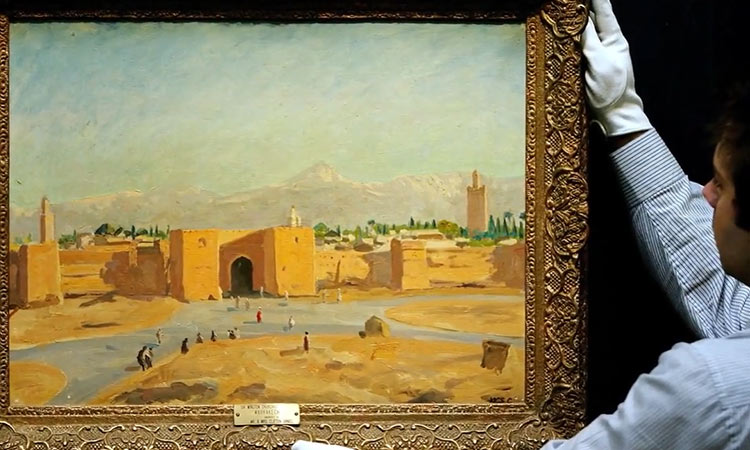 Angelina Jolie to sell Sir Winston Churchill's wartime painting 'Tower of the  Koutoubia Mosque' - GulfToday