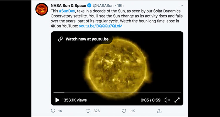 NASA's 10-year time-lapse of Sun leaves netizens awestruck