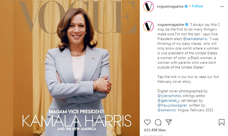 Kamala Harris poses for the cover of 'Vogue' — and gets trolled for it -  GulfToday
