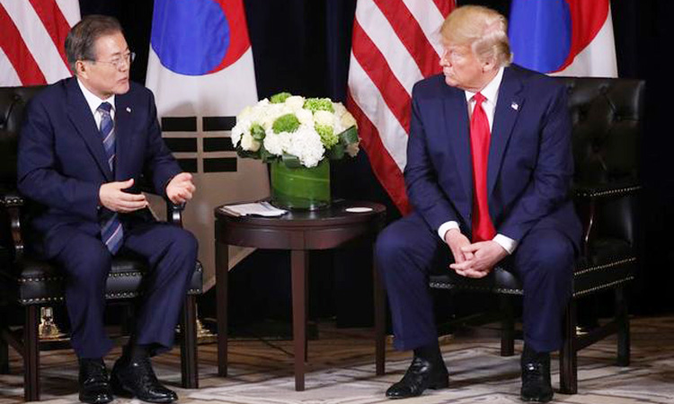 Trump, Moon discuss trying to maintain talks with North ...