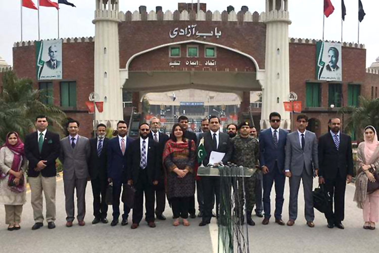 Pak-India officials at Wagha