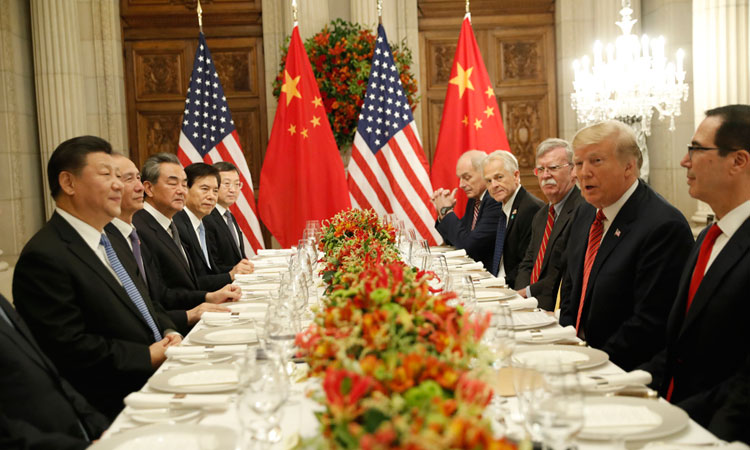 Trump shrugs off trade war tension