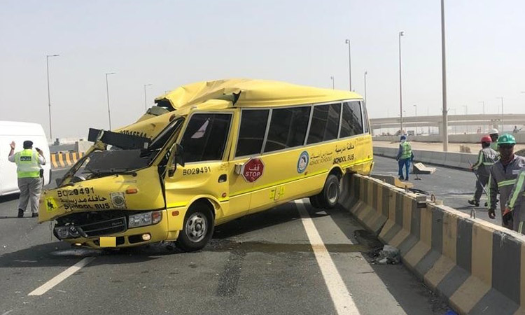 Children among injured in school bus accidents - GulfToday