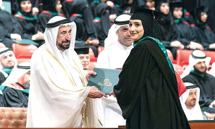 Sheikh Sultan attends UoS graduation event - GulfToday