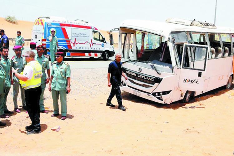 Two workers die, 31 injured in Ras Al Khaimah bus accident