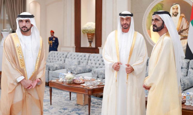 Video: UAE Rulers exchange Eid greetings, receive well-wishers