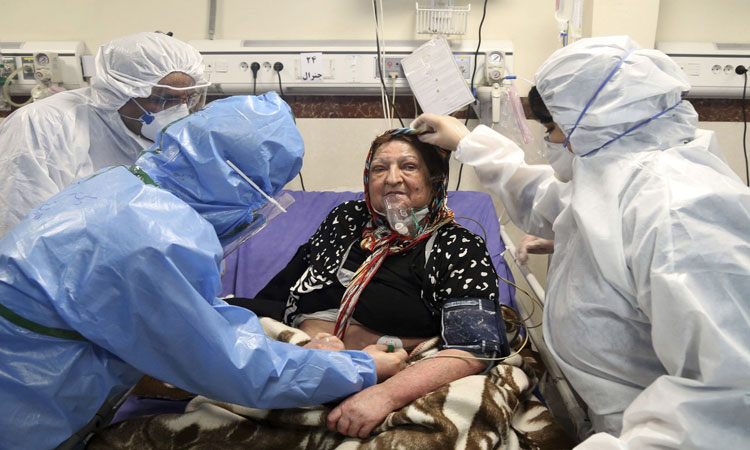 Image result for iranian woman coronavirus