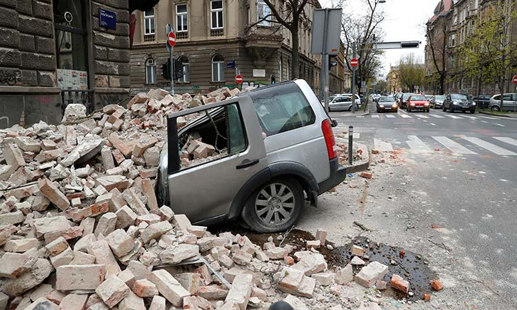 A strong natural disaster shakes Croatia and causes damage in Zagreb