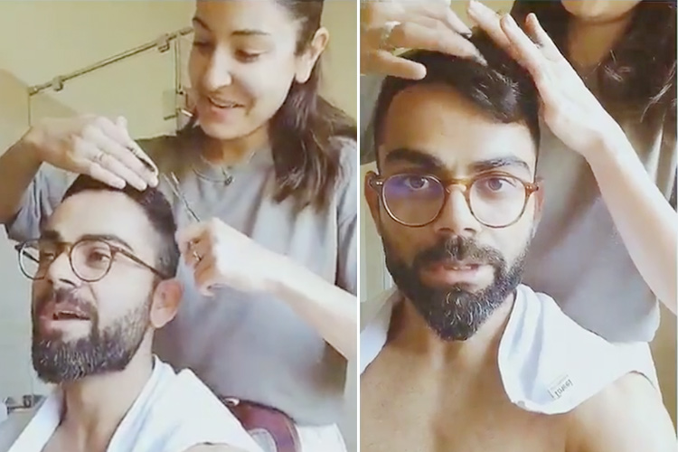 VIDEO: 'Stay at home:' Actor Anushka Sharma cuts husband ...