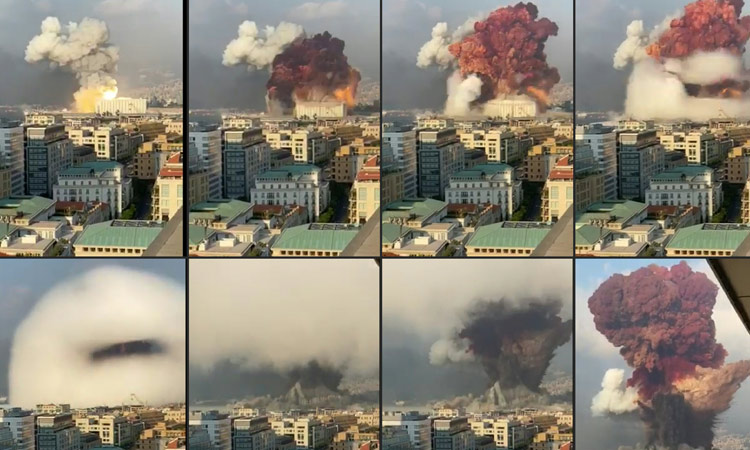 VIDEO: Lebanese President says possibility of external interference via  rocket, bomb in Beirut blasts - GulfToday