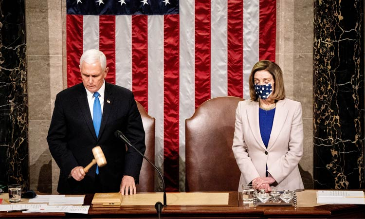 Mike Pence Certifies Electoral Colleges Declaration of