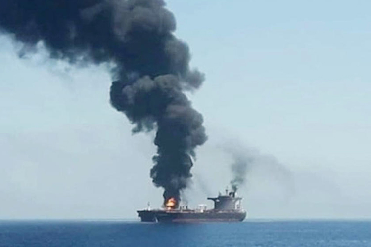 Israeli-Owned Ship Hit by Explosion in Gulf of Oman Overnight