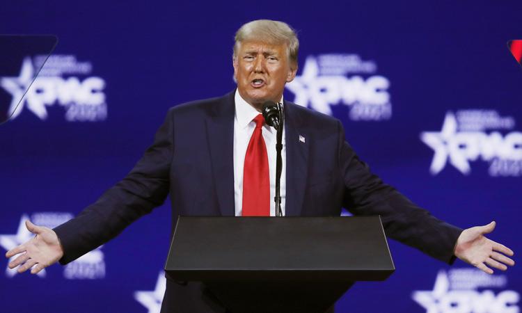Trump targets disloyal Republicans, hints at 2024 run