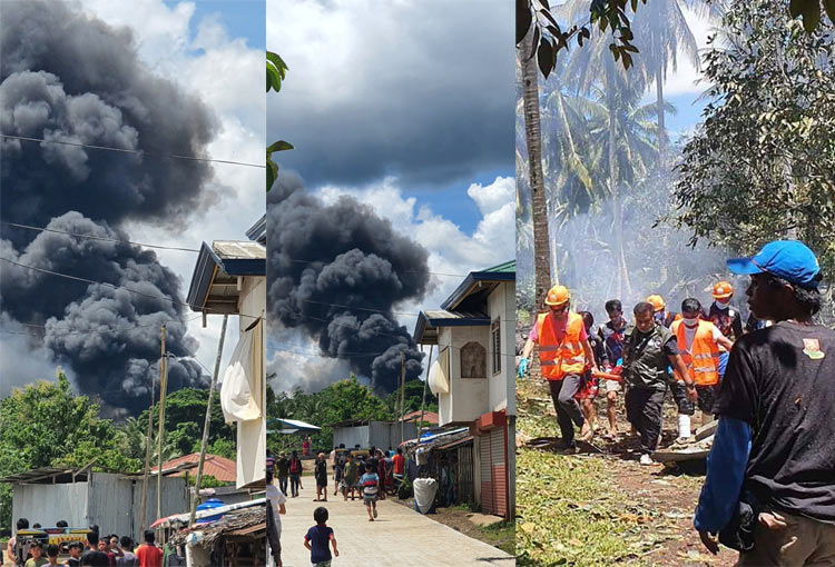 VIDEO: Philippine military plane crash kills at least 42 on board, 3  civilians on ground - GulfToday