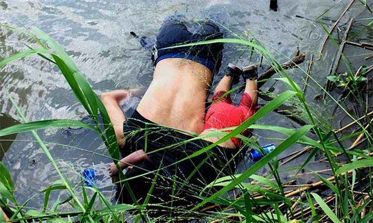 Drowned Mexican migrants