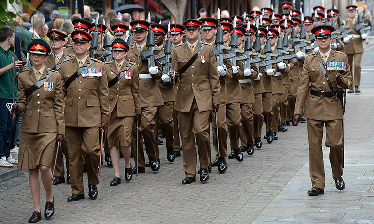 British Army Parade