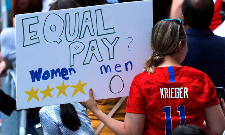 Women Soccer Players demand equal pay