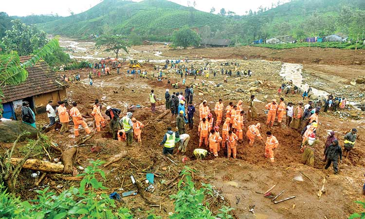 More bodies recovered from landslide debris in Kerala - GulfToday