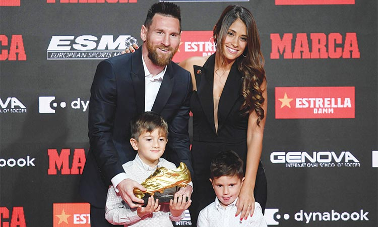 Messi receives record sixth European Golden Shoe award