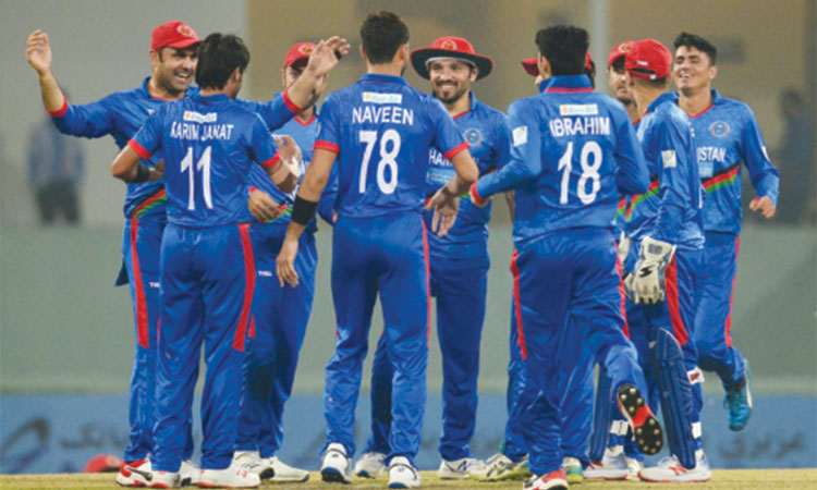 Janat's fifer helps Afghanistan stun WI, sets up lively decider - Gulf Today