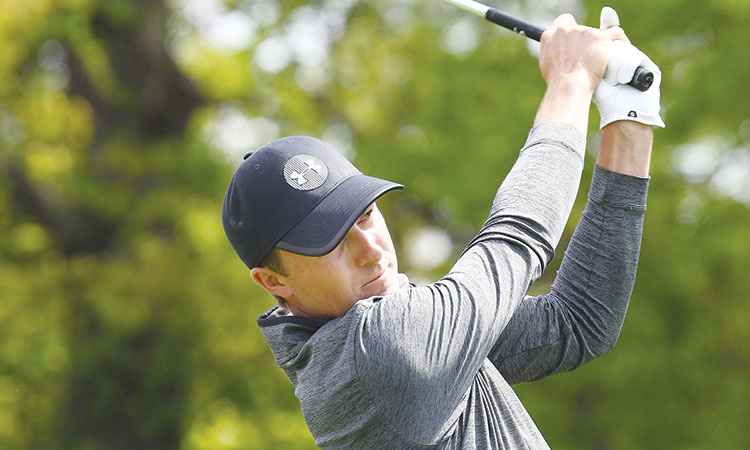 spieth charges after career slam as koepka retains leads