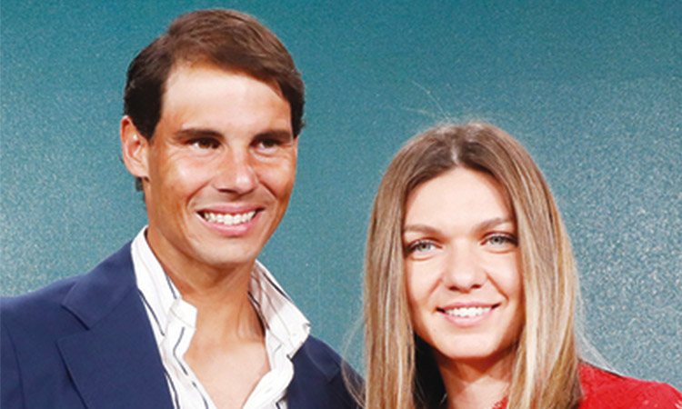 Rafael-Nadal and Simona Halep
