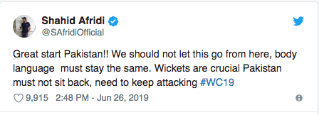 Imran Khan congratulates Pakistan cricket team on 'great