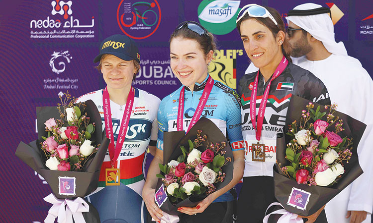 Van der Haar claims opening stage of Dubai Women's Cycle Tour