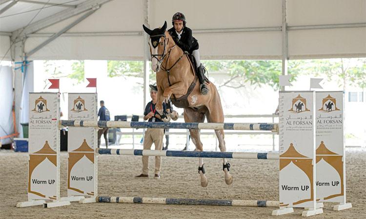 Uae Equestrian Team Trains At Al Forsan International