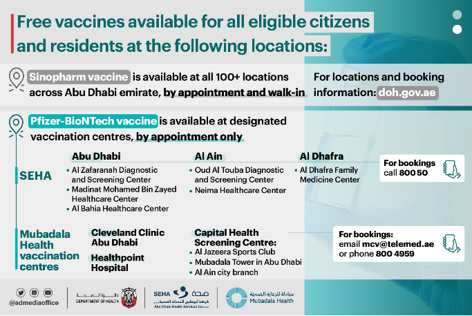 Seha Free Pfizer vaccine